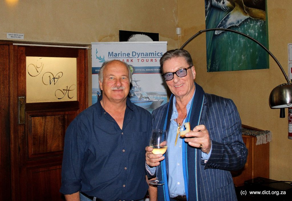 Wilfred Chivell (ceo Marine Dynamics Founder Dyer Island Conservation Trust) And Richard Peirce