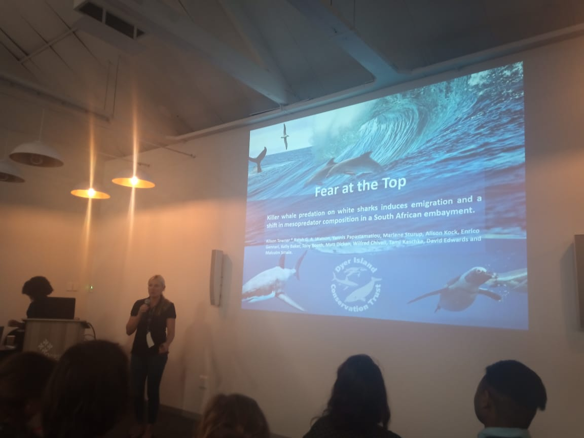 Alison Towner presenting at Shark & Ray Symposium