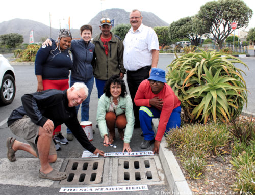 Storm water stencils and statistics in Gansbaai