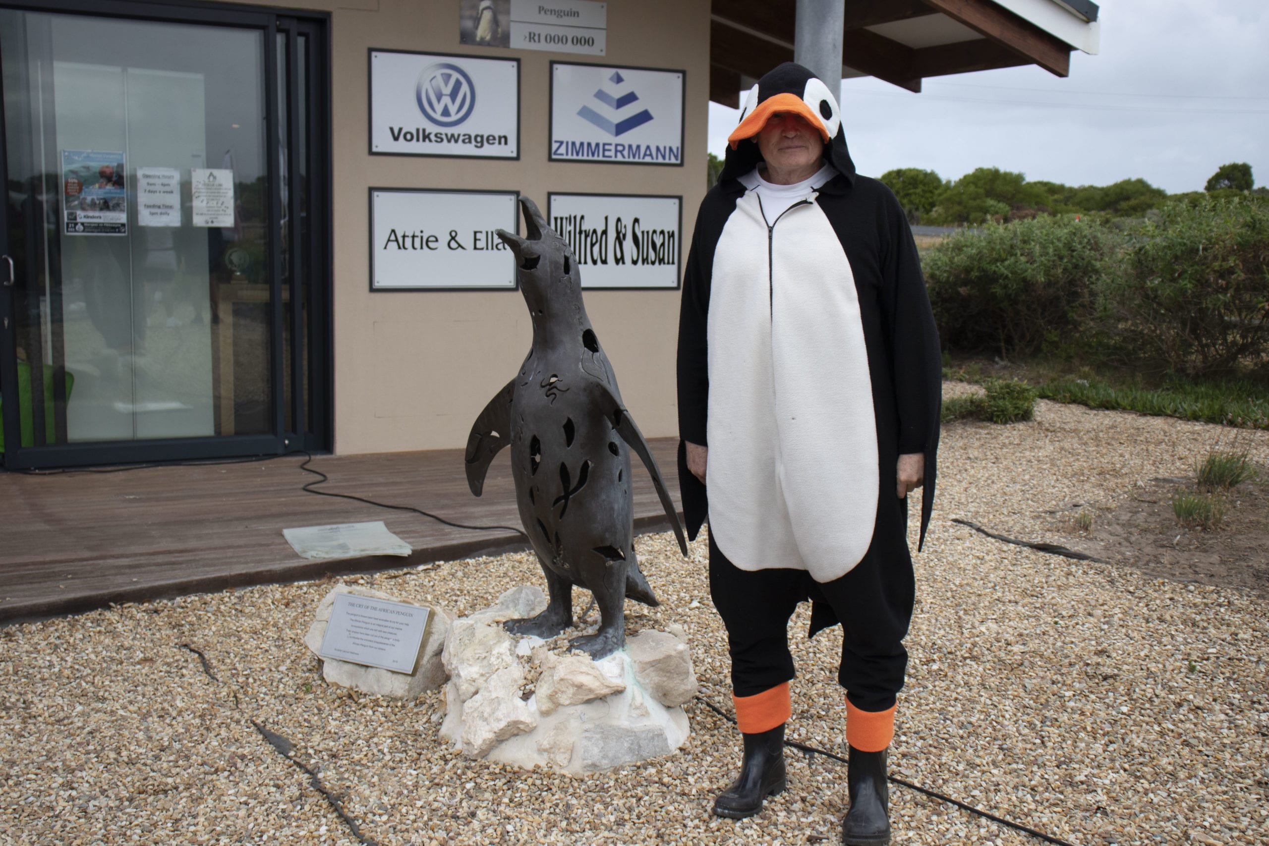 Gerhard the APSS penguin man