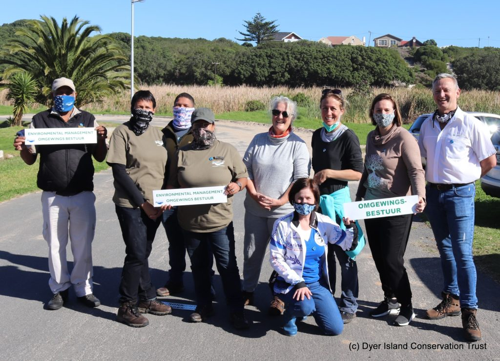 Overstrand Municipality, Dyer Island Conservation Trust, Whale Coast Conservation, Capenature Working Together.